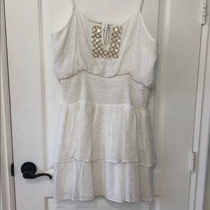 Bebe white summer dress